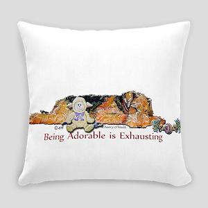 Sleepy Airedale Everyday Pillow
