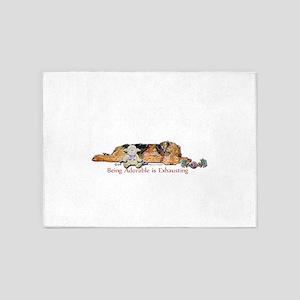 Sleepy Airedale 5'x7'Area Rug