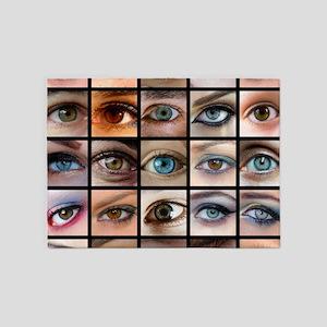 Eyes Mosaic 5'x7'Area Rug