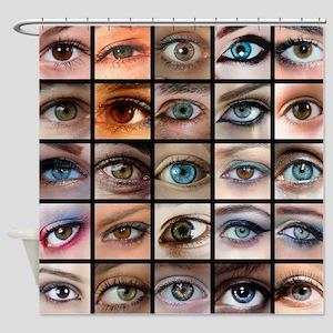 Eyes Mosaic Shower Curtain