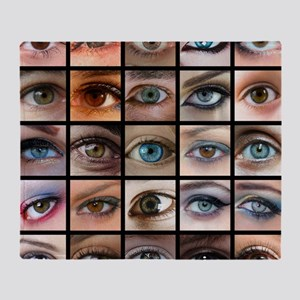 Eyes Mosaic Throw Blanket
