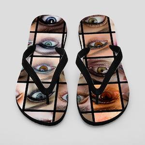 Eyes Mosaic Flip Flops