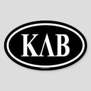 KAPPA LAMBDA BETA Oval Sticker