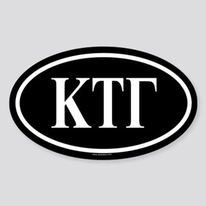 KAPPA TAU GAMMA Oval Sticker