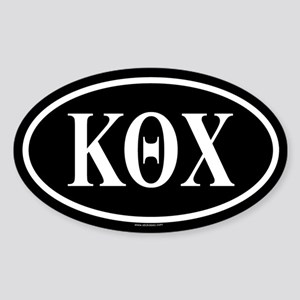 KAPPA THETA CHI Oval Sticker
