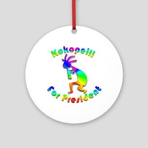 Kokopelli for President #2 Ornament (Round)