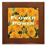 Coreopsis Flower Power Framed Tile