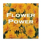 Coreopsis Flower Power Tile Coaster