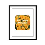 Coreopsis Flower Power Framed Panel Print