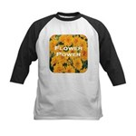 Coreopsis Flower Power Kids Baseball Jersey