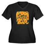 Coreopsis Flower Power Women's Plus Size V-Neck Da