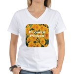 Coreopsis Flower Power Women's V-Neck T-Shirt