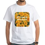 Coreopsis Flower Power White T-Shirt