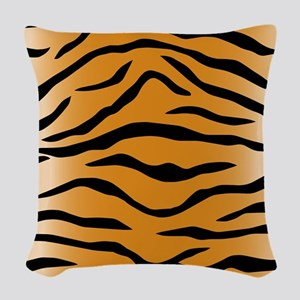 Tiger Stripes Woven Throw Pillow