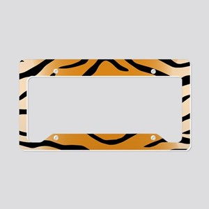 Tiger Stripes License Plate Holder
