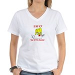 Year Of The Rooster Women's V-Neck T-Shirt