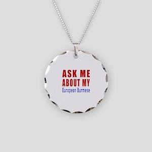 Ask Me About My European Bur Necklace Circle Charm