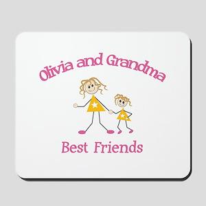 Olivia & Grandma - Best Frien Mousepad