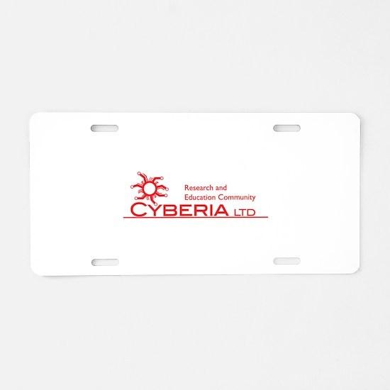 Cyberia LTD Logo Aluminum License Plate