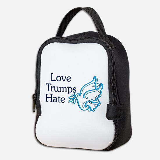 Love Trumps Hate Neoprene Lunch Bag