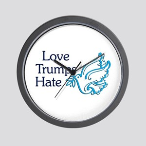 Love Trumps Hate Wall Clock
