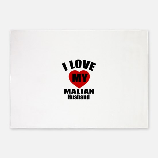 I Love My Malian Husband 5'x7'Area Rug