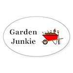 Garden Junkie Sticker (Oval 10 pk)