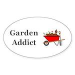 Garden Addict Sticker (Oval 50 pk)