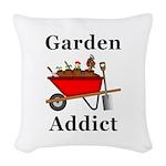 Garden Addict Woven Throw Pillow