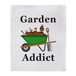 Garden Addict Throw Blanket