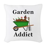 Garden Addict Woven Throw Pillow