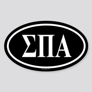 SIGMA PI ALPHA Oval Sticker