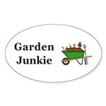 Garden Junkie Sticker (Oval 10 pk)