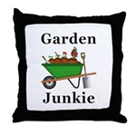 Garden Junkie Throw Pillow