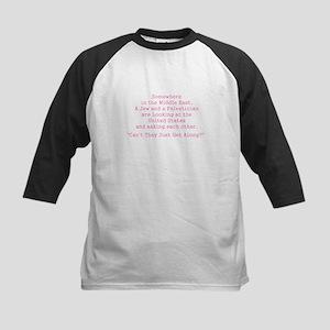 Jew and Palestinian - Pink Baseball Jersey