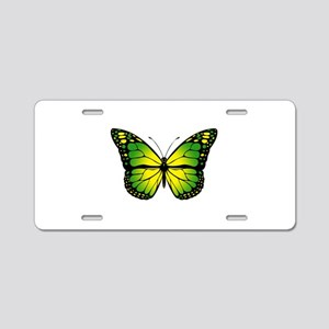 Green butterfly Aluminum License Plate
