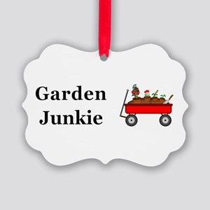 Garden Junkie Picture Ornament