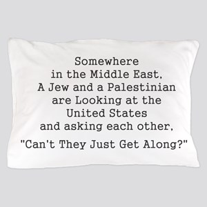 Jew and Palestinian - Black Pillow Case