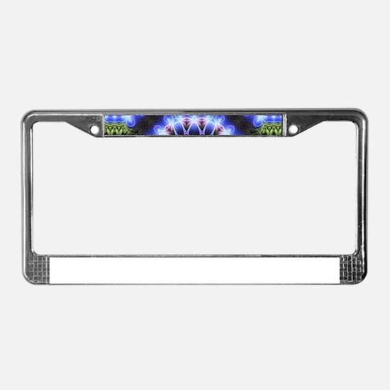 Om Symbol Blue Forest Energy M License Plate Frame