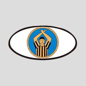 American Football Umpire Hand Signal Circle Mono L
