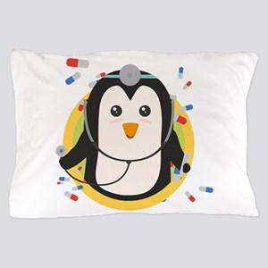 Penguin doctor in circle Pillow Case