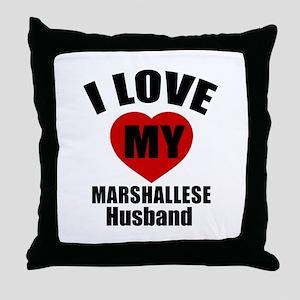 I Love My Marshallese Husband Throw Pillow