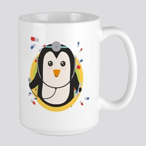 Penguin doctor in circle Mugs