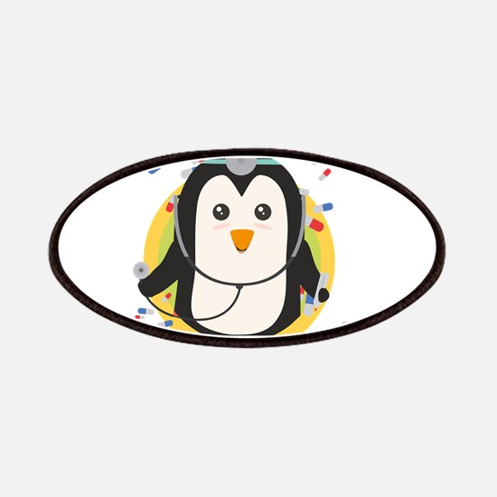 Penguin doctor in circle Patch