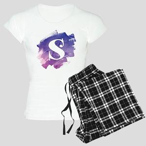 MONOGRAM Purple Brushstroke Pajamas