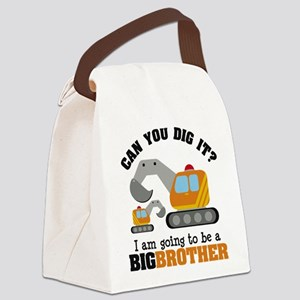 Excavator Big Brother to be Canvas Lunch Bag