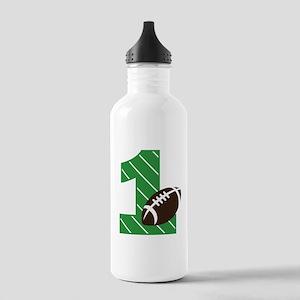 Football 1st Birthday Water Bottle