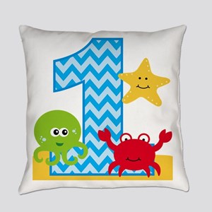 Under the Sea 1st Birthday Everyday Pillow