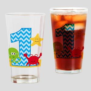 Under the Sea 1st Birthday Drinking Glass