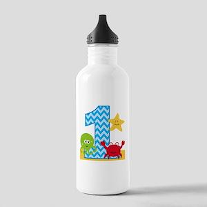 Under the Sea 1st Birthday Water Bottle